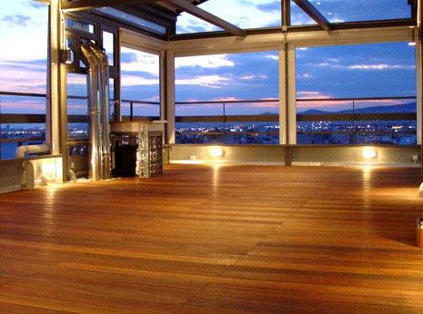Deck με τροπική ξυλεία bangirai